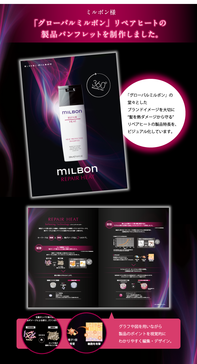 美容室専売品メーカーの新製品パンフレットを制作!